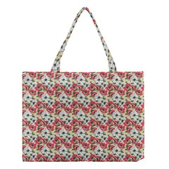 Gorgeous Red Flower Pattern  Medium Tote Bag