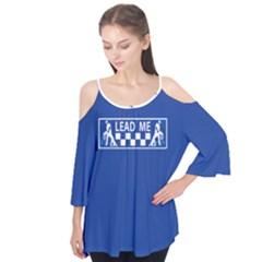 LEAD ME dancer Flutter Sleeve Cotton Tee