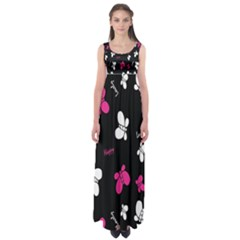 Butterfly Empire Waist Maxi Dress