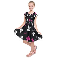 Butterfly Kids  Short Sleeve Dress
