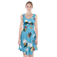 Bear Aircraft Racerback Midi Dress