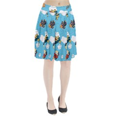 Bear Aircraft Pleated Skirt
