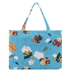 Bear Aircraft Medium Zipper Tote Bag