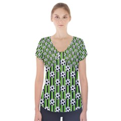Ball Line Short Sleeve Front Detail Top