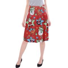 Xmas Santa Clause Midi Beach Skirt