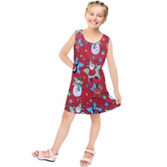Xmas Santa Clause Kids  Tunic Dress