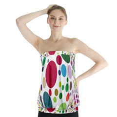 Color Balls Strapless Top