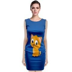 Cute Cat Classic Sleeveless Midi Dress