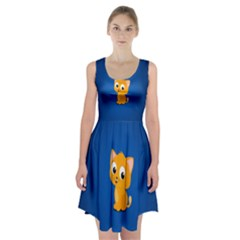 Cute Cat Racerback Midi Dress