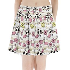 Cow Animals Pleated Mini Skirt