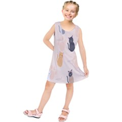 Cute Cat Meow Animals Kids  Tunic Dress