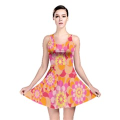 Abstract Art Background Colorful Reversible Skater Dress