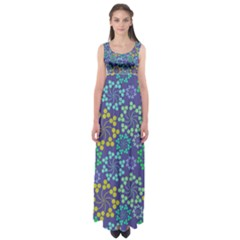 Abstract Art Background Colorful  Empire Waist Maxi Dress