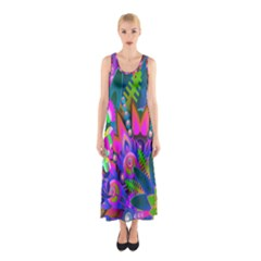 Abstract Digital Art  Sleeveless Maxi Dress