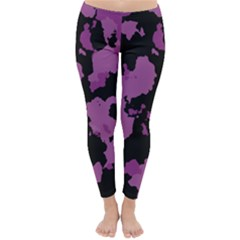 Pink Camouflage Winter Leggings