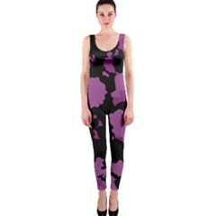 Pink Camouflage Onepiece Catsuits