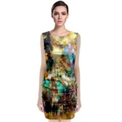 Abstract Digital Art Classic Sleeveless Midi Dress
