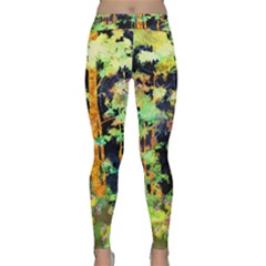 Abstract Trees Flowers Landscape Classic Yoga Leggings
