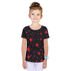 Bright Red Stars In Space Kids  One Piece Tee