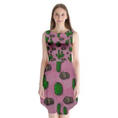 Cactuses 2 Sleeveless Chiffon Dress