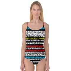 Simple Colorful Design Camisole Leotard