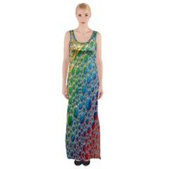 Bubbles Rainbow Colourful Colors Maxi Thigh Split Dress