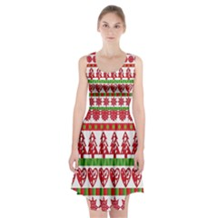 Christmas Icon Set Bands Star Fir Racerback Midi Dress