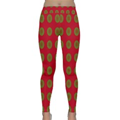 Christmas Paper Wrapping Paper Classic Yoga Leggings