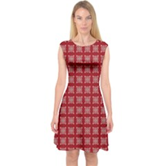 Christmas Paper Pattern  Capsleeve Midi Dress