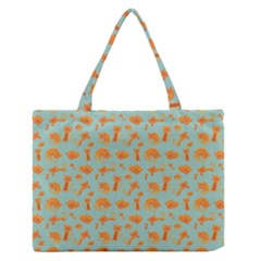 Cute Cat Animals Orange Medium Zipper Tote Bag