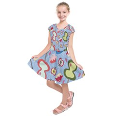 Fruit Apple Kids  Short Sleeve Dress
