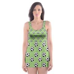 Green Ball Skater Dress Swimsuit