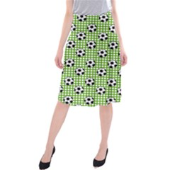 Green Ball Midi Beach Skirt