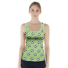 Green Ball Racer Back Sports Top