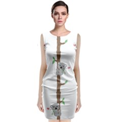 Koala Pattern Classic Sleeveless Midi Dress