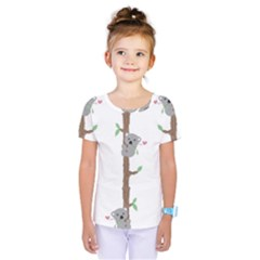 Koala Pattern Kids  One Piece Tee