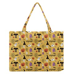 Halloween Pattern Medium Zipper Tote Bag
