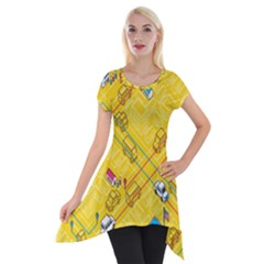 Highway Town Short Sleeve Side Drop Tunic