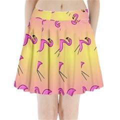 Pink Flamingos Pleated Mini Skirt