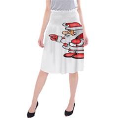 Santa Claus Xmas Christmas Midi Beach Skirt