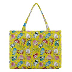 Robot Cartoons Medium Tote Bag