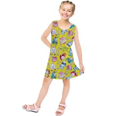Robot Cartoons Kids  Tunic Dress