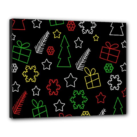 Colorful Xmas pattern Canvas 20  x 16