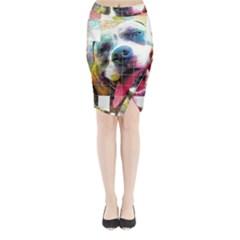 Layla Merch Midi Wrap Pencil Skirt