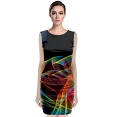 Dancing Northern Lights, Abstract Summer Sky  Classic Sleeveless Midi Dress