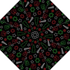 Green and  red Xmas pattern Folding Umbrellas