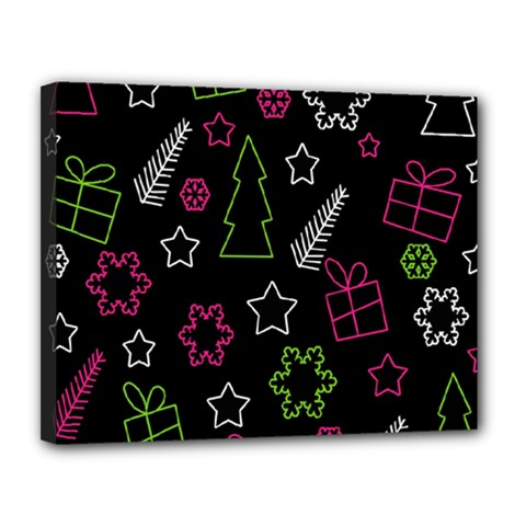 Elegant Xmas pattern Canvas 14  x 11