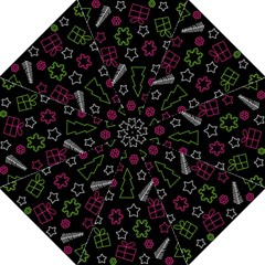 Elegant Xmas pattern Straight Umbrellas