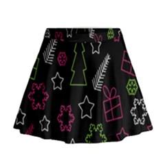 Elegant Xmas pattern Mini Flare Skirt