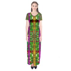 A Gift Given By Love Short Sleeve Maxi Dress